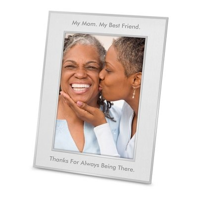 Things Remembered Personalized Silver Flat Iron 8 x 10 Portrait Frame with Engraving Included