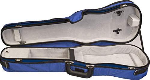 Bobelock 1007 Fiberglass Shaped 4/4 Violin Case, Blue exterior with Gray interior (Bobelock Fiberglass Violin Case)