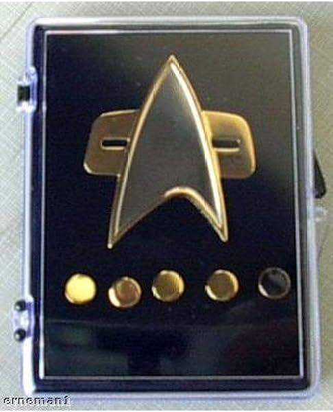 Star Trek DS9 Communicator Pin Combadge Rank Pip Badge SECTION 31 SET