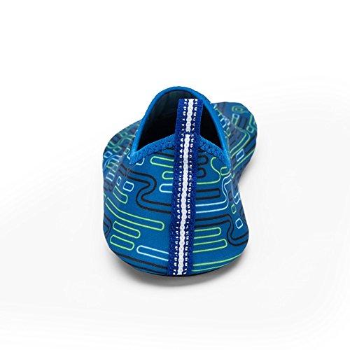 Printed Yoga Barefoot Aqua Shoes,Wingbind Swim Water Shoes Beach Ocean Shoes Diving Surfing Aqua Socks Pool Boating Skin Shoes for Women Men blue