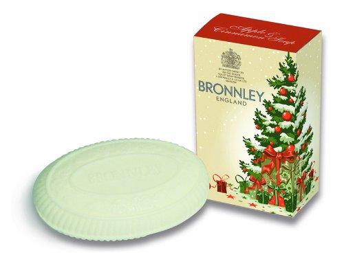 Bronnley Classic Christmas Tree Soap Box with Apple and Cinnamon Soap 100g (Bronnley Box)
