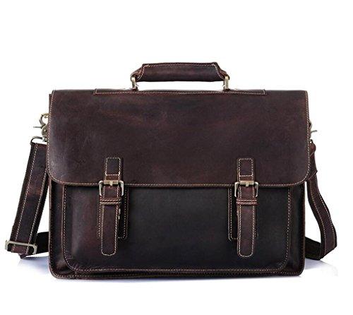 borsa retro uomo da grande personalizzata valigetta Shopping in lavoro viaggio Borsette pelle capacità computer SHOUTIBAO BYxH8nw