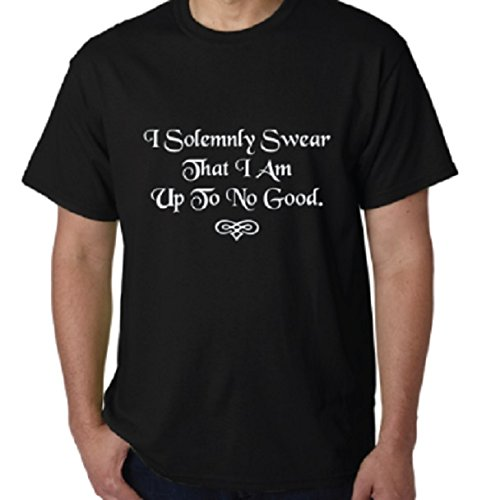 (I Solemnly Swear That I Am up to No Good Harry Potter Style Funny 100% Cotton T-Shirt (Swear,)