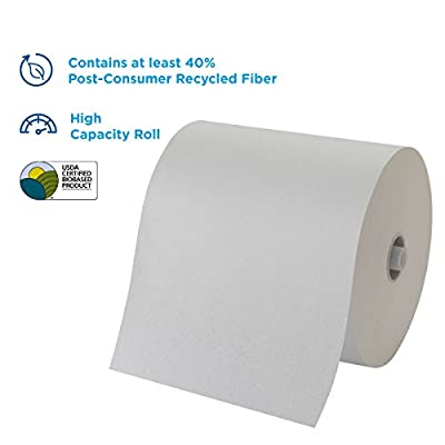 """Pacific Blue Ultra 8"""" High-Capacity Recycled Paper Towel Roll by GP PRO (Georgia-Pacific), White, 26491, 1150 Feet Per Roll, 3 Rolls Per Case: Industrial & Scientific"""