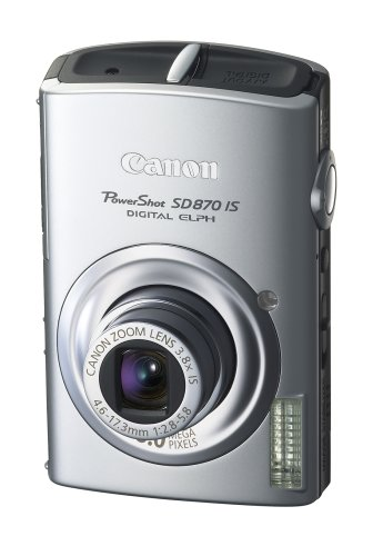 (Canon PowerShot SD870IS 8MP Digital Camera with 3.8x Wide Angle Optical Image Stabilized Zoom (Silver))