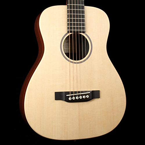 Martin LX1E Acoustic Guitar W/ Fishman Sonitone electronics Solid Sitka spruce top Modified O-14 fret body Inlaid boltaron w/red (Best Martin Guitar Under 2000)