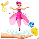Akargol Flying Fairy Doll - Best Toy Gift For Girl Kids Magic RC Drone Girl Infrared Induction Remote Control Toys - Hover Flying Fairies Toy Gift for Children Rechargeable Indoor and Outdoor Games