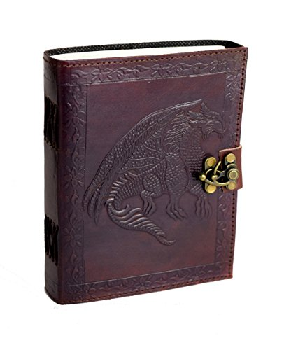 Dragon Tales - Vintage Buffalo leather journal NEW PREMIUM PAPER Cotton paper Notebook Handmade in India