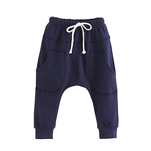 Weixinbuy Unisex Kid Toddler Cotton Jersey Harem Pants Baby Elastic Trousers