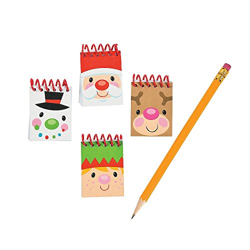 4 Dozen - Cheery Christmas Mini Notepads (48 Pcs) - Christmas Party Supplies