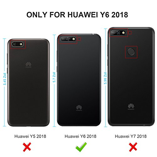 finest selection dce78 1af04 Geemai Huawei Y6 2018 Case, Huawei Y6 2018 [Full Range Protection]  [Anti-slip] Super Protective Case Cover for Huawei Y6 2018 Smartphone, Blue
