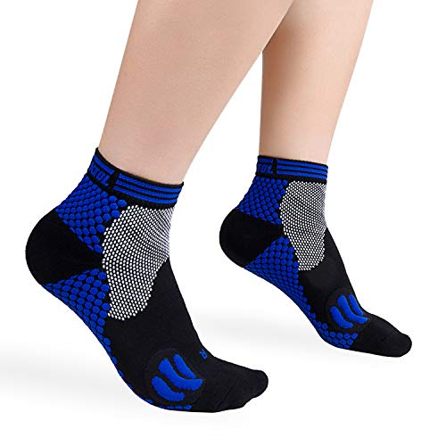 Plantar Fasciitis Socks, Compression Socks with Ankle & Arch Support for Men and Women Foot & Heel Sleeves to Relieve Pains (1 Pair)