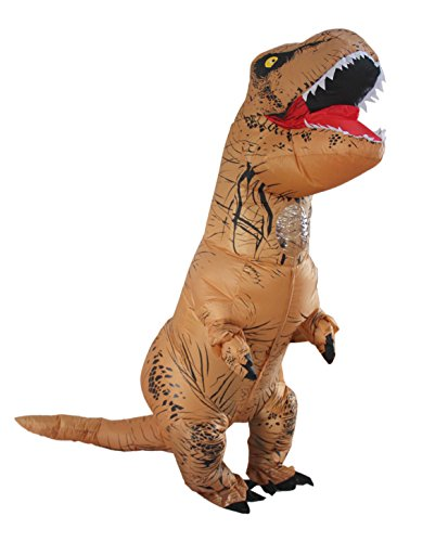 Man Riding Donkey Costume (T-rex Costume Halloween Adult Inflatable Dinosaur Party Funny Dress ( Backpack & USB Wire))