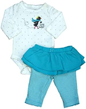 Carters Infant Girls Auntie Says I'm Sweet Bodysuit & Tutu Leggings 2 PC Set