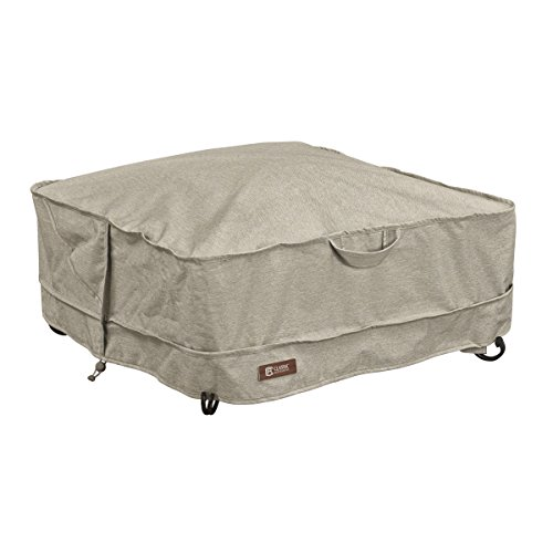 Classic Accessories 55-665-016701-RT Montlake FadeSafe Full Coverage Square Fire Pit Cover, 36-inch