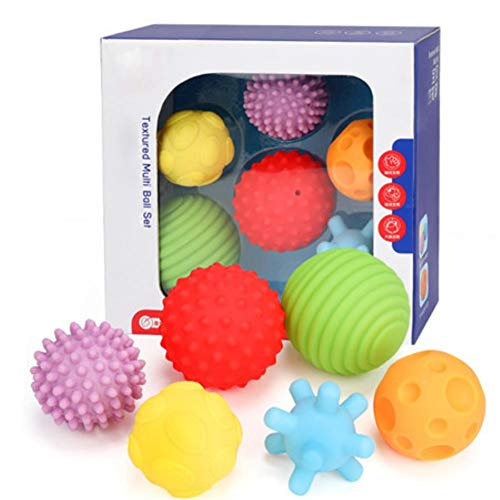 WSIECQ Baby Toys Hand Grasping Ball Soft Ball Textured Multi Ball Set Develop Babys Tactile Senses Toy for Touch and Massage Soft Ball