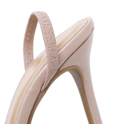 YMFIE Sexy Moda Europea y Finos Dedos Dedos Dedos Transparentes con Sandalias de tacón señoras Parte Banquete Talones,35 UE,b 9e6d46