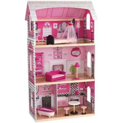 "KidKraft Bonita Rose Dollhouse - Colorful Toddler Toy for 12"" Dolls Real Wood"