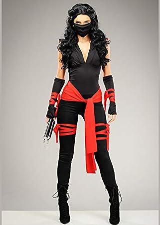 Magic Box Disfraz de guerrera Ninja Linda Mujer L (UK 12-14 ...