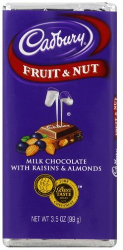 Nuts Dairy Fruit (Cadbury Dairy Milk Fruit & Nut Milk Chocolate Bar, 3.5-Ounce (Pack of 4))