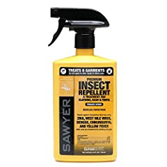 For use on clothing, tents, and other gear, Sawyer Premium Permethrin Clothing Insect Repellent not only repels insects, it actually kill ticks, mosquitoes, chiggers, mites, and more than 55 other kinds of insects on contact. It is effective ...