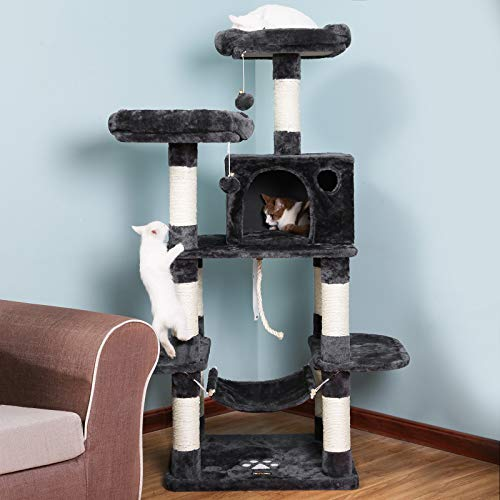 Songmics 59 Multi Level Cat Tree With Sisal Covered