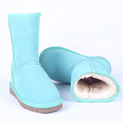 JUWOJIA Causalité des Bottes Femmes Chaussures d'hiver Chaussures De Causalité JUWOJIA Mesdames Paillettes 42|Green 33c298