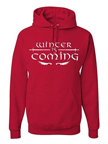Adult Winter Is Coming Fashion Hoodie TV Fan Hooded Sweatshirt (M, (History Channel Halloween Games)