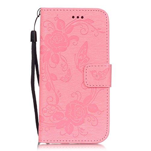 Meet de pour Apple iPhone 6 / iphone 6S Case, Gedruckte Schmetterling Folio pour Apple iPhone 6 / iphone 6S PU Housse / Wallet / flip étui / Pouch / Case / Holster / Wallet / Case en cuir Wallet Style