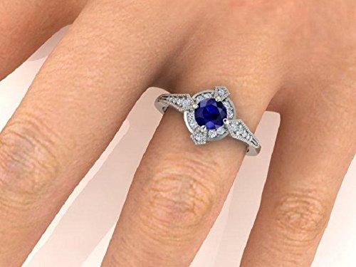 Amazon Com Edwardian Style Engagement Rings Custom Made Blue