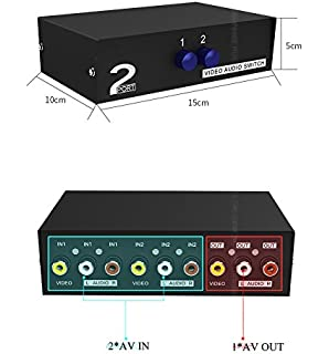 Amazoncom Optimal Shop 2 Way Audio Video Switch Selector Box
