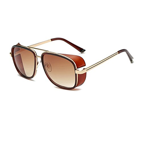 LIKEOY Best Men Aviator Goggles Sunglasses ,Metal Frame Rimmed UV400 Lens - Replica Tom Ford