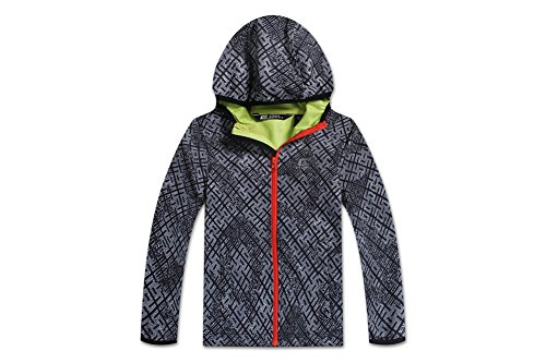 CHMNX Outdoors Chamonix Outdoors Girls&Boys Outdoor Waterproof Windproof and Durable Softshell Hooded Jacket - Mountain Light Jacket Boys