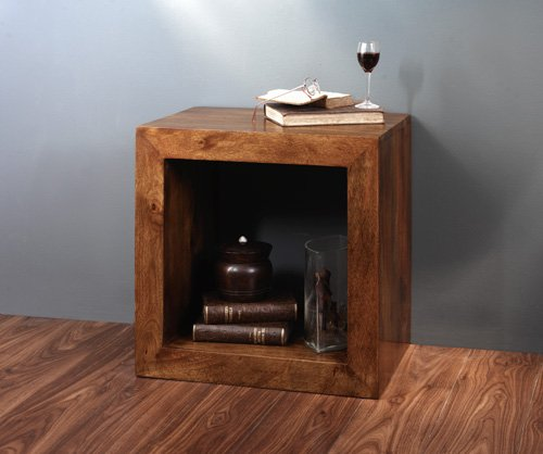 Solid Mango Wood End Table |Handcrafted Indian Furniture