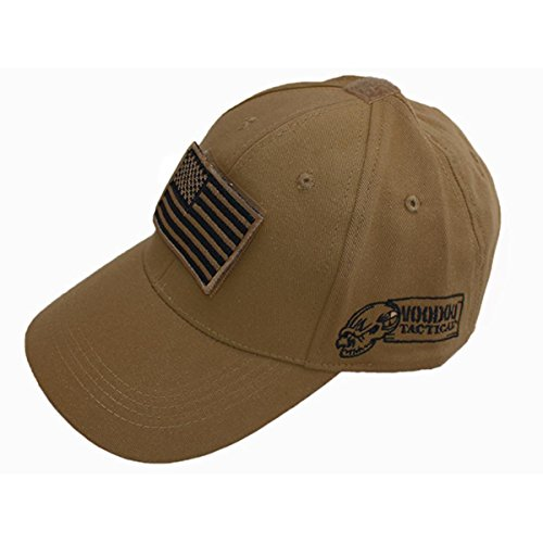 Voodoo Tactical 20-9351 Contractor Baseball Cap w/Flag, Tan