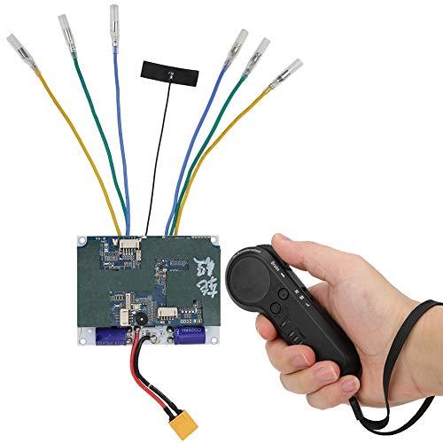 Keenso Skateboard Speed Controller, Electric Four Wheel Skateboard Hub Motor Double‑Drive Controller Remote Control Set