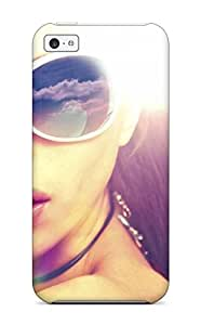 Hot 6111771K39044916 Quality Case Cover With Woman With Sunglasses Nice Appearance Compatible With Iphone 5c