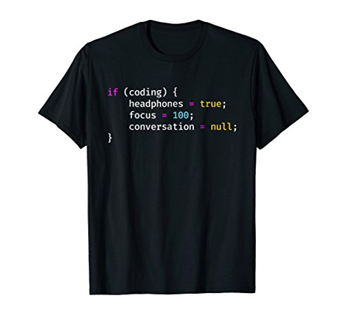 Funny Joke Programming If Coding Headphones Focus T-Shirt