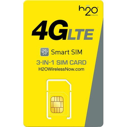 H2O Wireless Triple Cut Nano/Micro/Standard SIM Card w First Month Airtime Included ($30 Monthly Plan) by Tech Comm