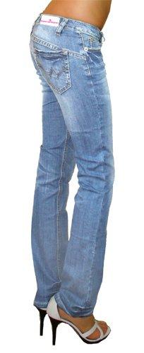 0e1367a97e6c bestyledberlin Damen Jeans Hosen, Low Rise Hüftjeans, Slim Fit Damen  Bootcut, Jeanshosen j99a  Amazon.de  Bekleidung