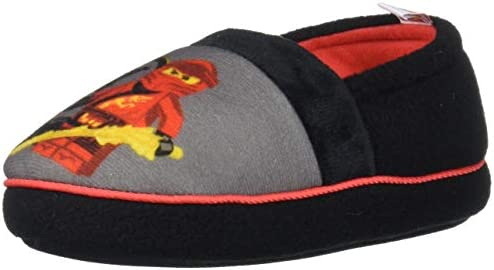 LEGO Ninjago Slippers with Kai and Lloyd Easy Slip On Slippers for Kids Little Kid Size 9//10 to Big Kid Size 2//3