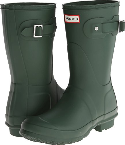 Hunter Womens Original Short Hunter Green Rain Boot - 10 B(M) US -