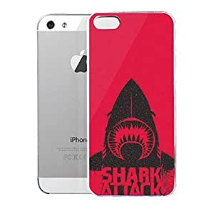 Light weight with strong PC plastic case for Iphone 5/5s Art Illustration Art The Shark by runtopwell