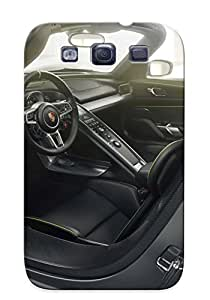 New Fashionable Exultantor Wfofjf-1232-vtedvhy Cover Case Specially Made For Galaxy S3(2014 Porsche 918 Spyder Interior )