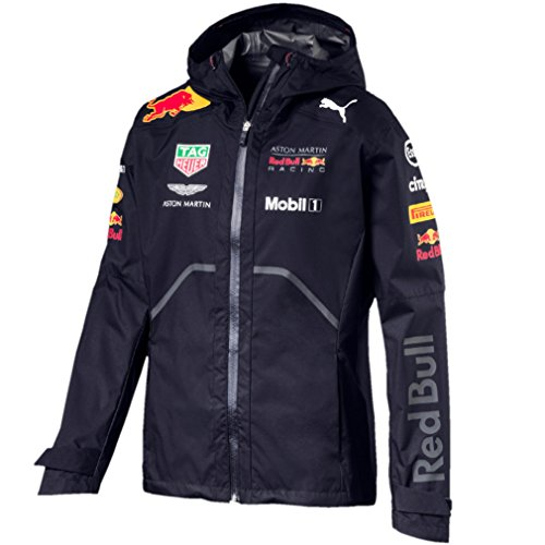 62b98f4ade2 Red Bull Formula 1 Aston Martin 2018 Men s Team Blue Rain Jacket ...