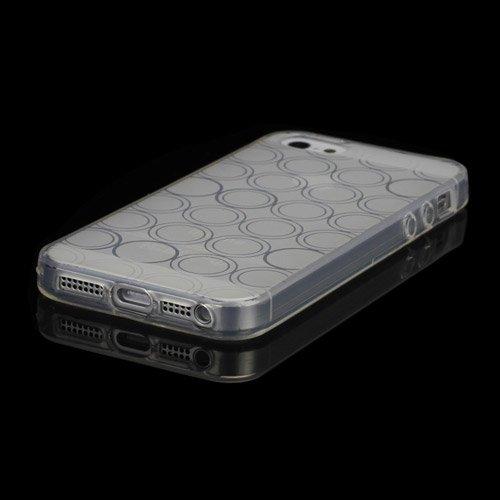 iProtect TPU Schutzhülle iPhone 5 / 5S Case Kreise transparent durchsichtig