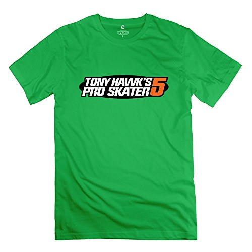 Price comparison product image Tony Hawk's Pro Skater 5 Very Short-Sleeve ForestGreen Shirt For Mens Size L
