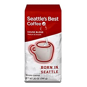Seattle's Best Coffee House Blend, Ground, 20-Ounce Bags