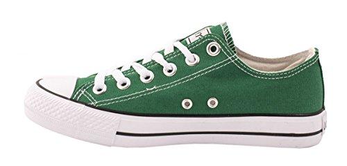Elara Unisex Sneaker | Bequeme Sportschuhe Für Damen und Herren | Low Top Turnschuh Textil Schuhe 36-46 Grün