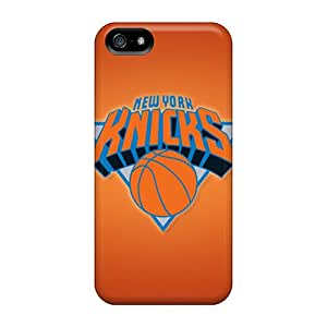Scratch Resistant Hard Cell-phone Cases For Apple Iphone 5/5s With Support Your Personal Customized High Resolution New York Knicks Skin TimeaJoyce